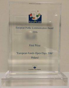 Dni Otwarte Funduszy Europejskich najlepszą europejską kampanią publiczną roku 2016